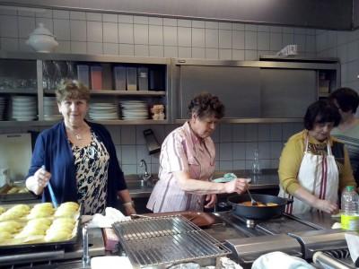 Die Vorbereitungen in der Küche