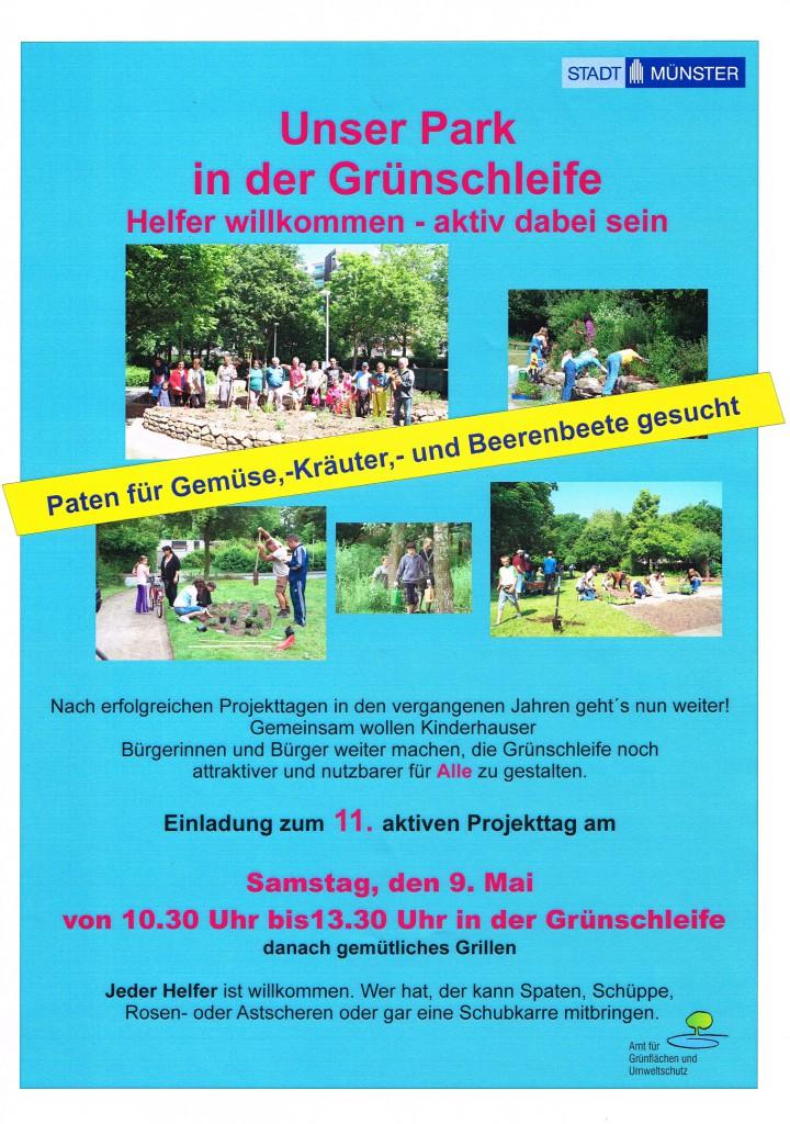 Aktionstag Grünschleife, Plakat