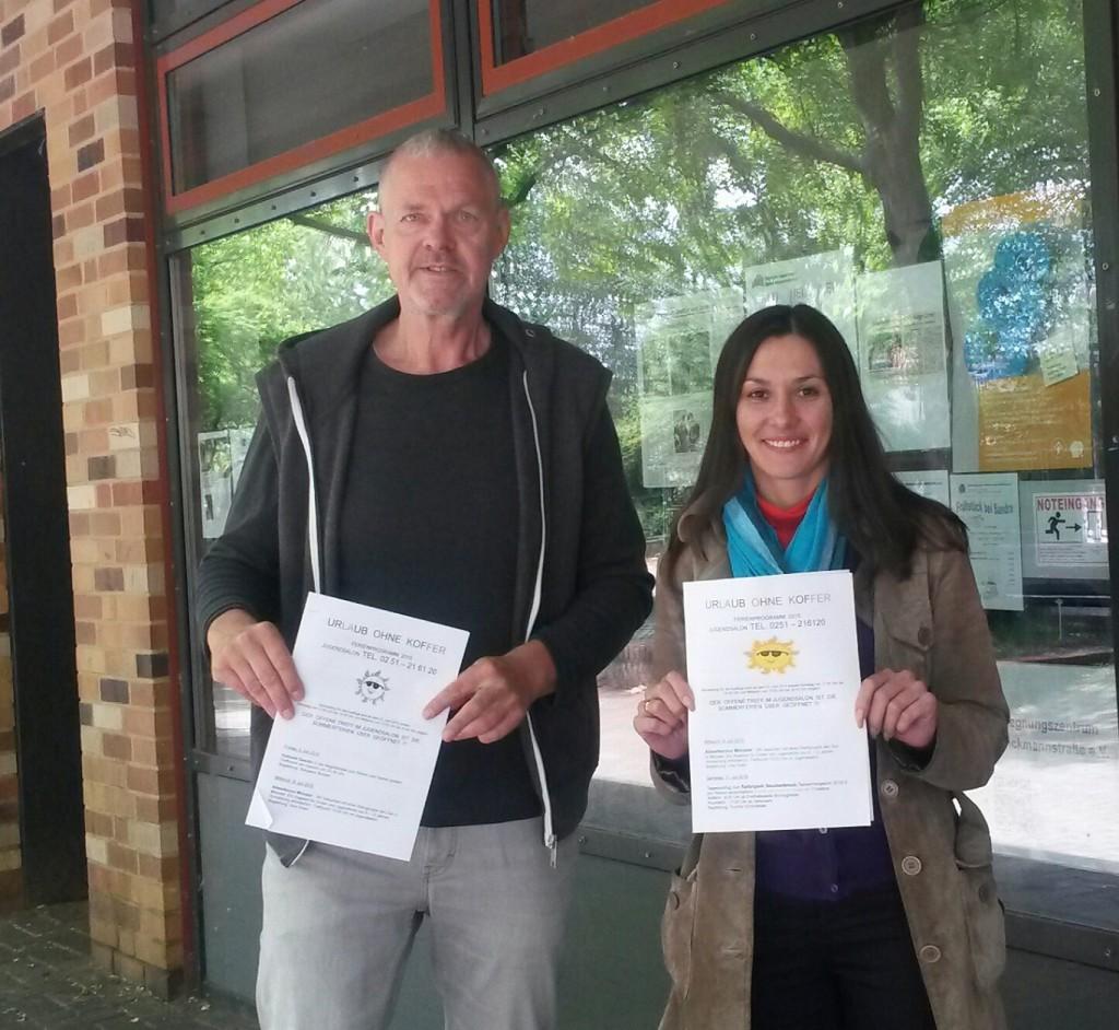 Roland Erfurt und Irina Rosin stellen das Jugendsalon-Ferienprogramm vor.